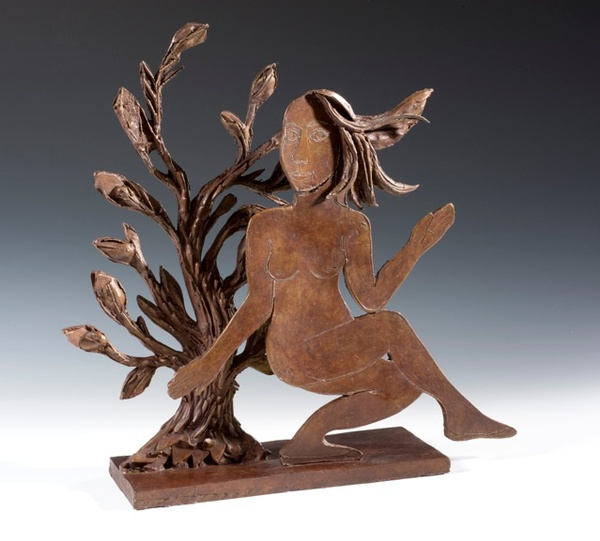 Eileen Cooper, Dancing Woman with Tree, 2014
